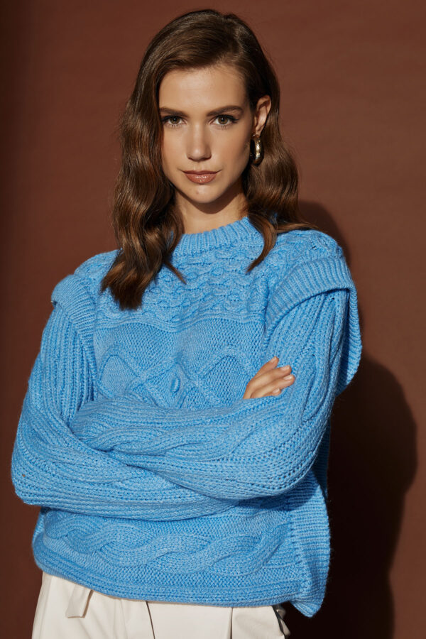 Sky Blue Padded Knit