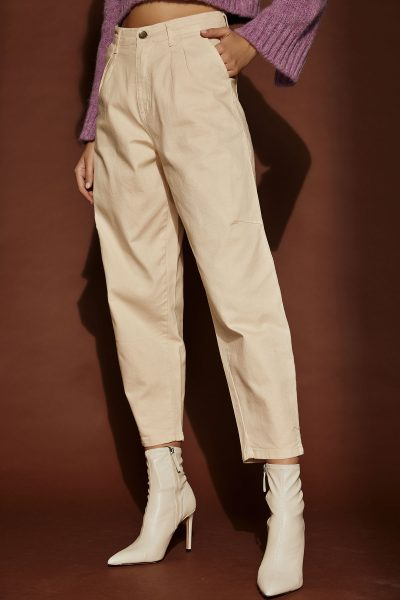 Slouchy Denim – Cream