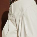 Leather Shorts – White