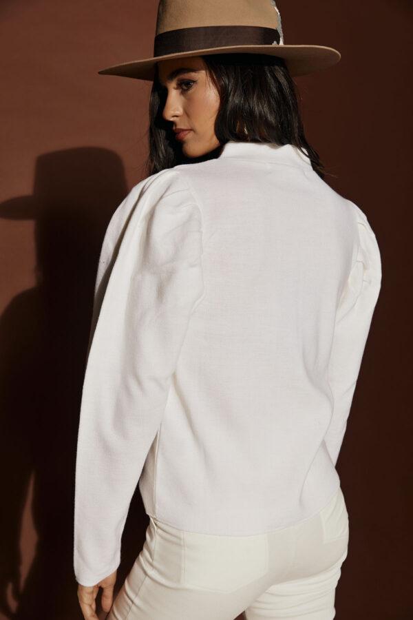 White Padded Knit