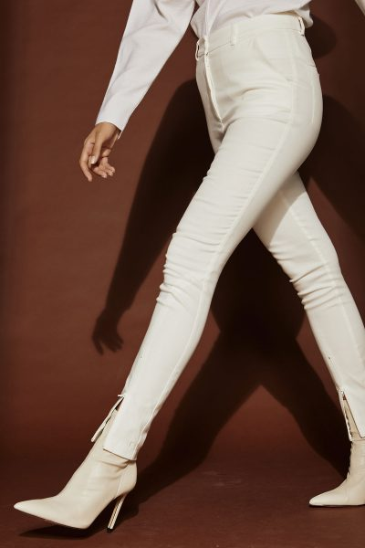 Straight Highwaist Pants – White