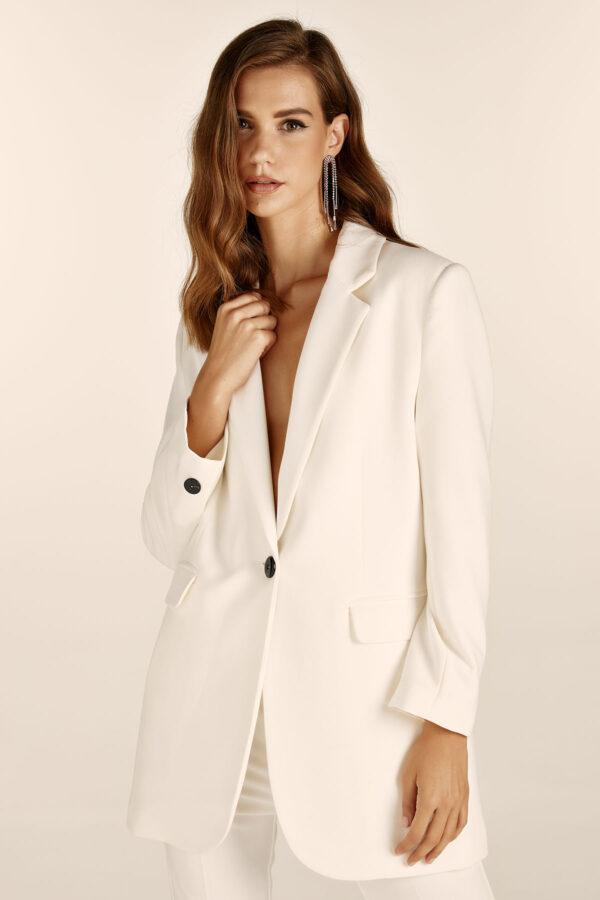 Oversized Blazer – White