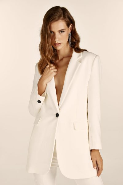 Oversized Blazer – White