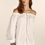 Odelia Top With Embroidery – White