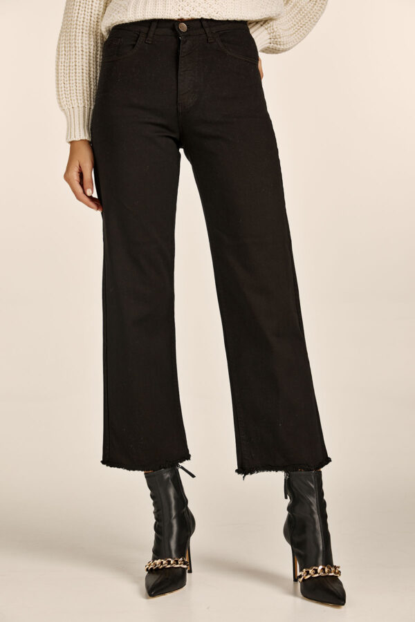Black Denim Culottes