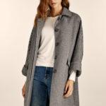 Tweed Grey Oversized Coat