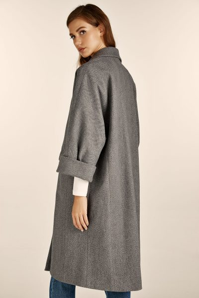 Tweed Grey Oversized Coat