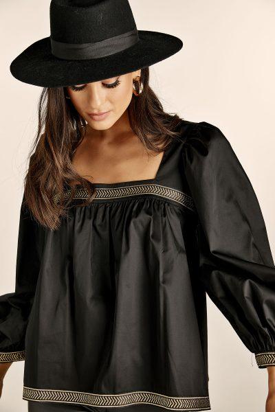 Matilda Shirt Top – Black