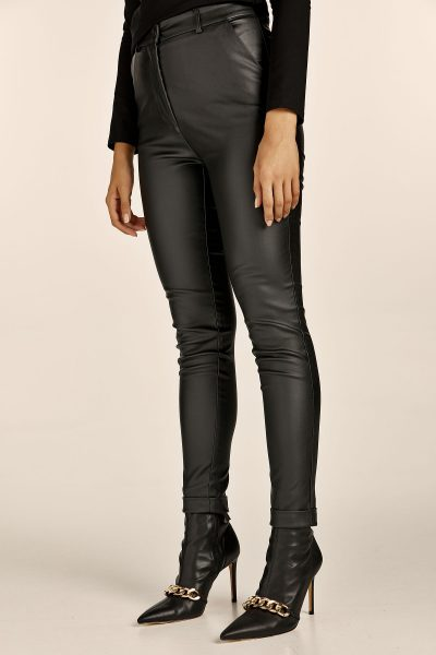 Highwaist Slim Fit Leather Pants