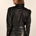 Ruffled Black Shirt