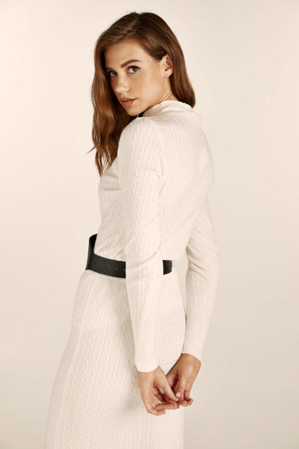 Braided Knit Set – White