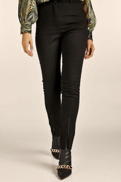 Straight Highwaist Pants – Black