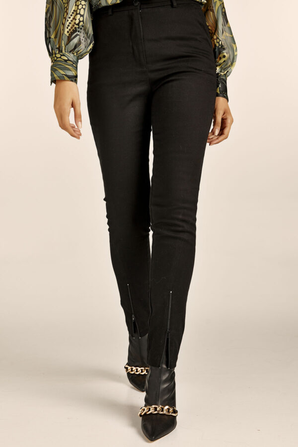 Straight Highwaist Pants – Black