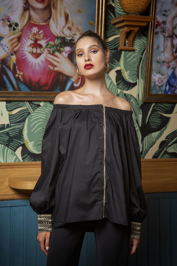 Odelia Top with Embroidery