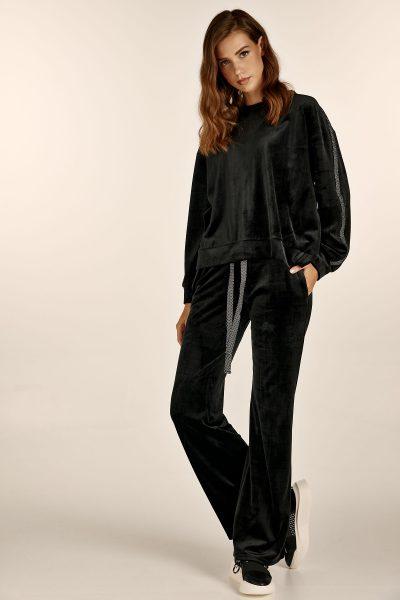Velvet loungewear – Black