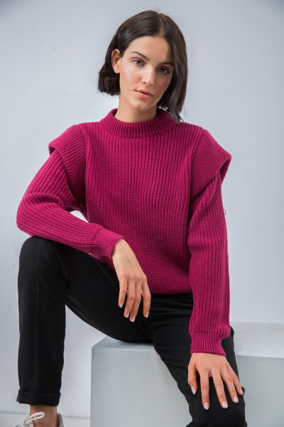 Dark Magenta Padded Knit