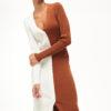 2-tones Knit Pencil Dress