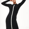 Striped Knit Pencil Dress
