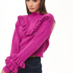 Ruffled Knit – Magenta