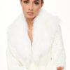 Fur Cardigan – White