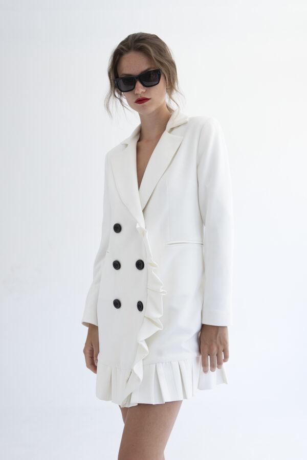 White Blazer Dress