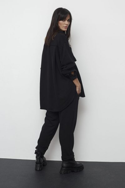 Oversized Sweat Shirt – Black