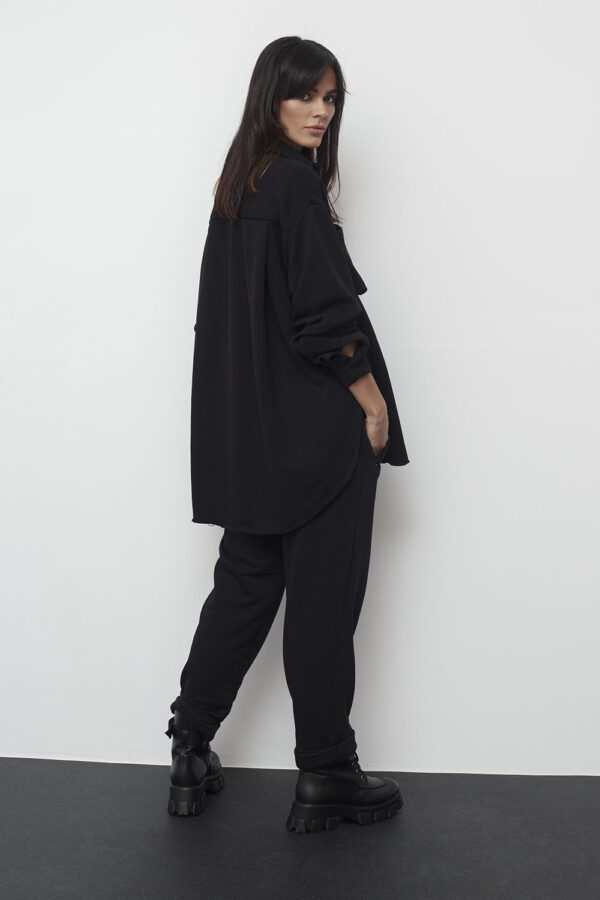 Oversized Sweat Shirt – Black