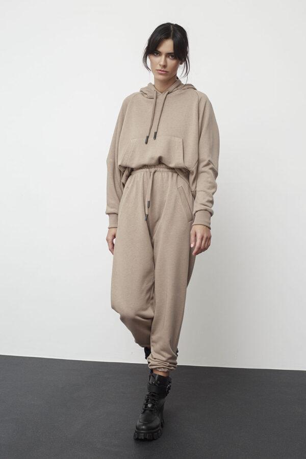 Hooded Sweatshirt – Beige