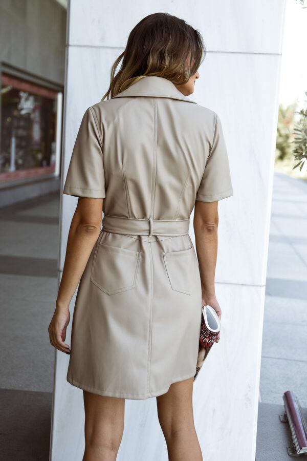 Mini Leather Dress – Fango