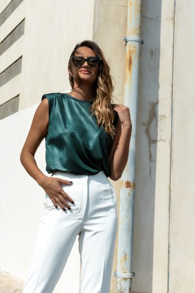 Sleeveless Top – Green