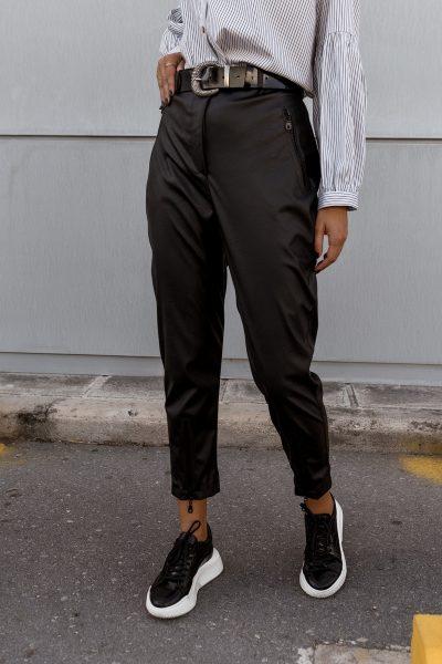 Highwaist Carrot Leather Pants