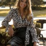 Leopard Wrap Shirt