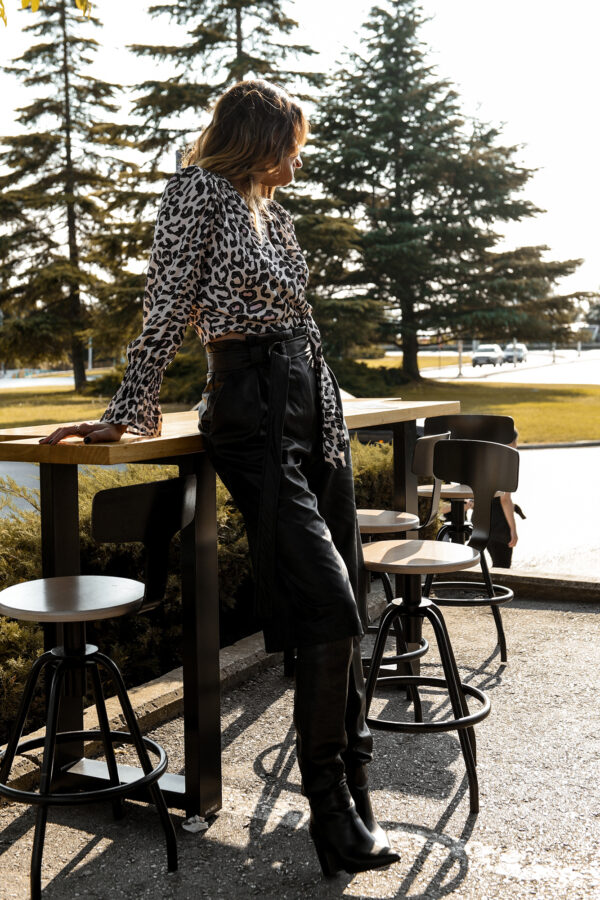 Leather Belted Culottes