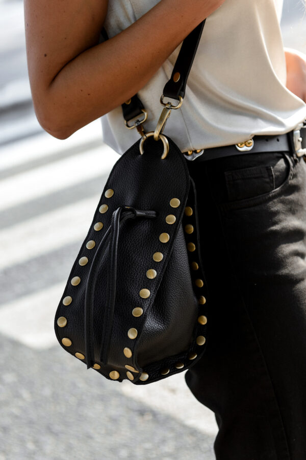 Studded Pouch Bag – Black