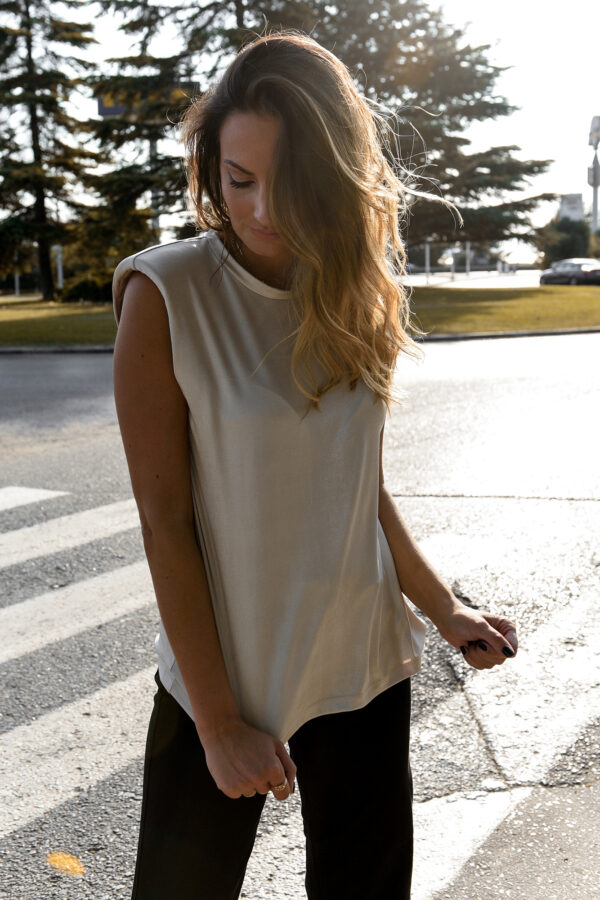 Sleeveless Top – Champagne