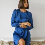 Luisa Dress – Petrol Blue