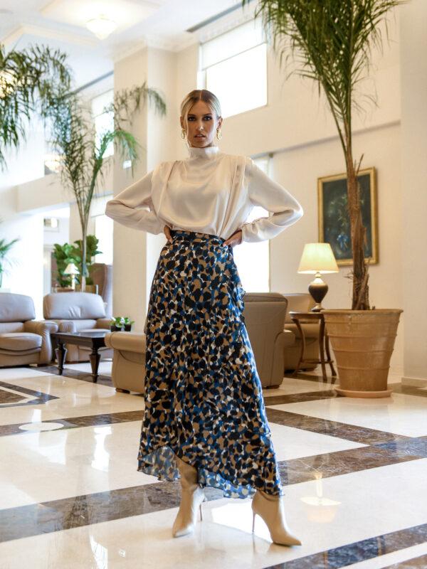 Barbara Wrap Skirt – Leopard