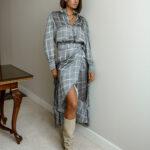Barbara Wrap Skirt – Checkered
