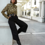 Ophelia Silky Blouse – Geo Print