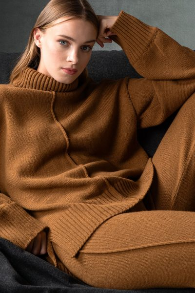 Camel Knit Set