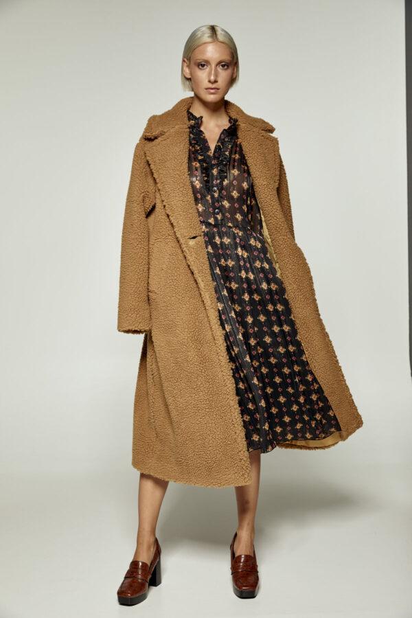 Camel Teddy Coat