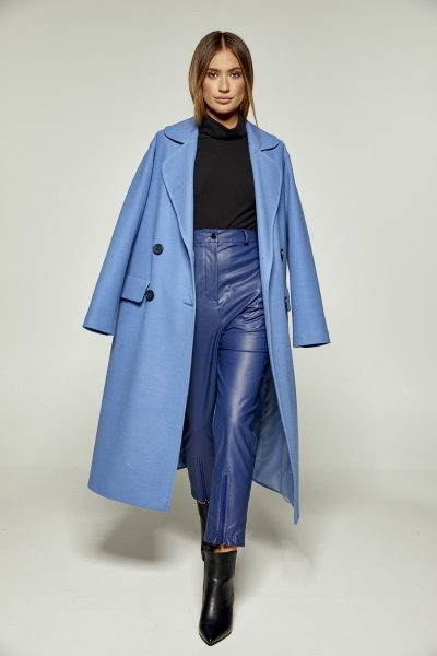 Blue Oversized Coat