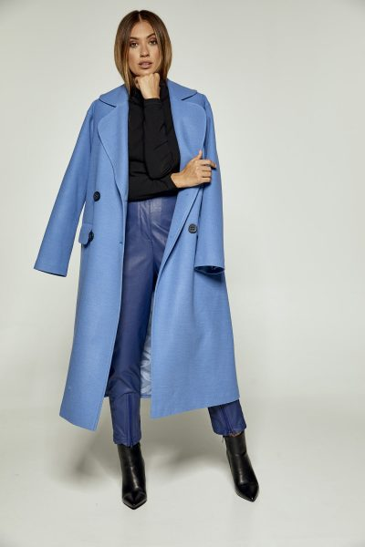 Blue Oversized Coat