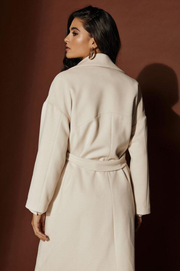 Belted Cream Coat