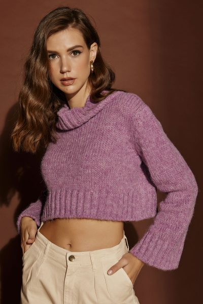 Crop Knit – Lilac