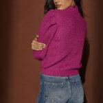 Magenta Volume Sleeves Knit