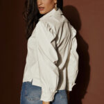 Leather Shirt – White