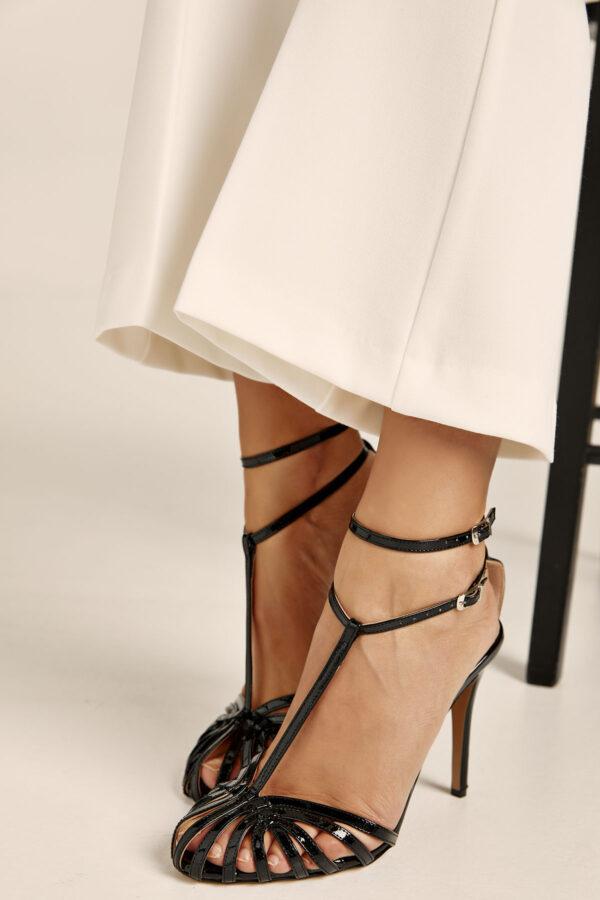 Stella Sandals – Patent Black
