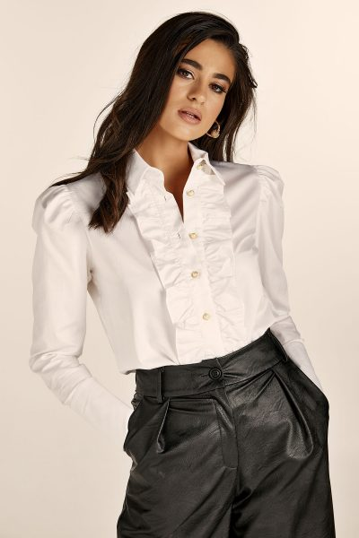 Ruffles White Shirt