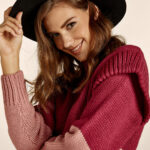 Two Tones Magenta Knit